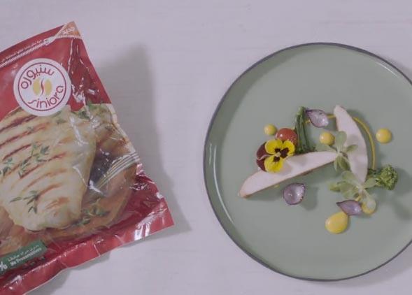 صدر الدجاج مع هريس الذرة